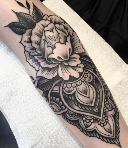 Flowers and Mandale piece by Tony