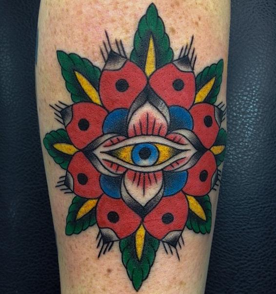 Mandala and eye by Leon