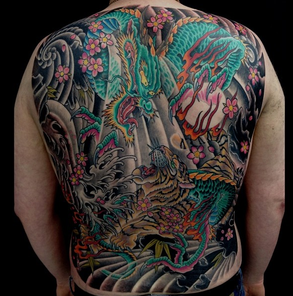 Oriental back piece by Leon