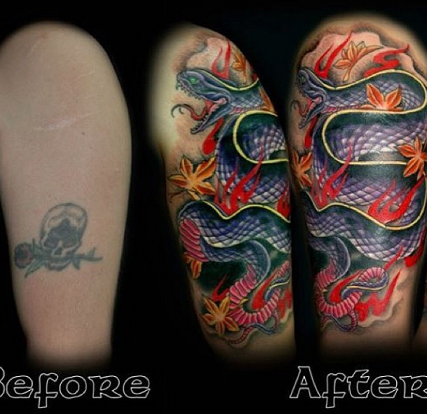 Snake cover up by Leon