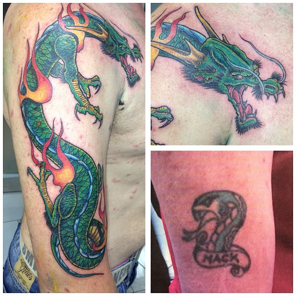 Dragon cover up by Ferg