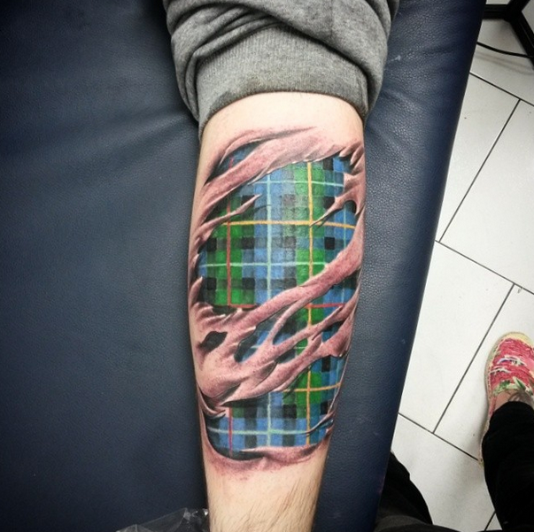 Tartan Ripped Skin by Robert