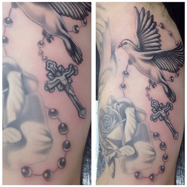 Dove and Cross by Vicki